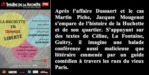 Théâtre, La Huchette, Mougenot